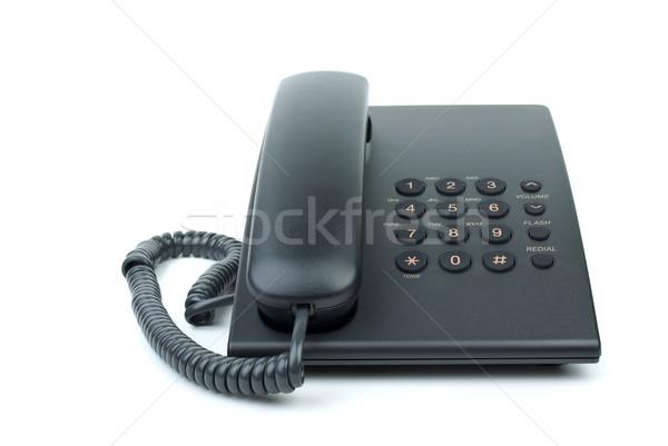 Modern black office phone Stock photo © digitalr