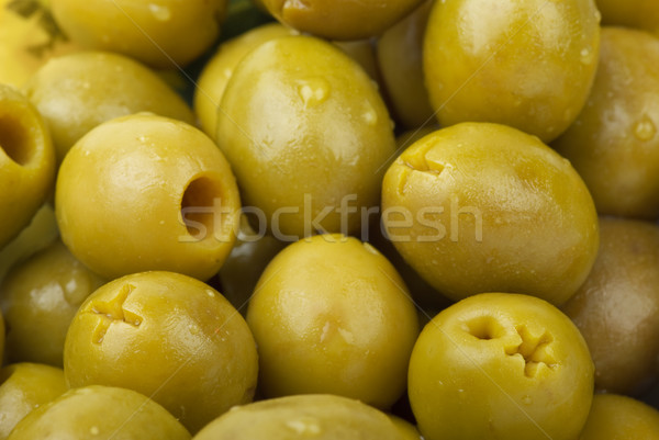 Green pitted olives Stock photo © digitalr
