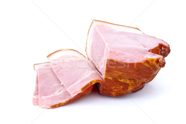 Piece of gammon and some slices Stock photo © digitalr