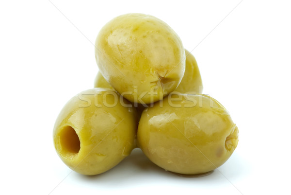 Close-up shot of some pitted olives Stock photo © digitalr