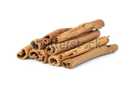 Pochi cannella isolato bianco stick Spice Foto d'archivio © digitalr