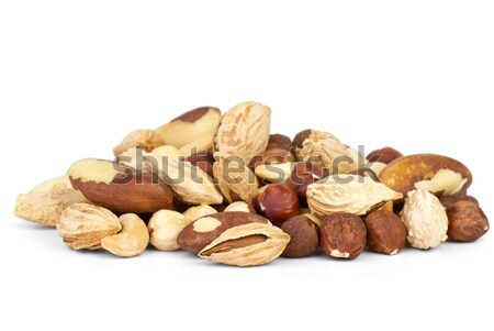 Small pile of different nuts Stock photo © digitalr