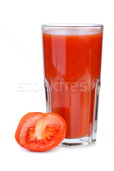 Domates suyu olgun taze domates yalıtılmış Stok fotoğraf © digitalr