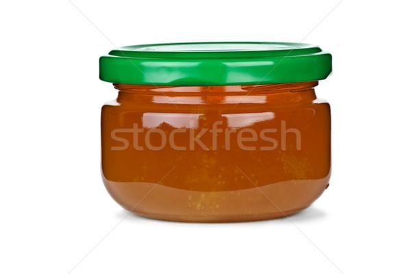 Minuscolo vetro jar miele isolato bianco Foto d'archivio © digitalr