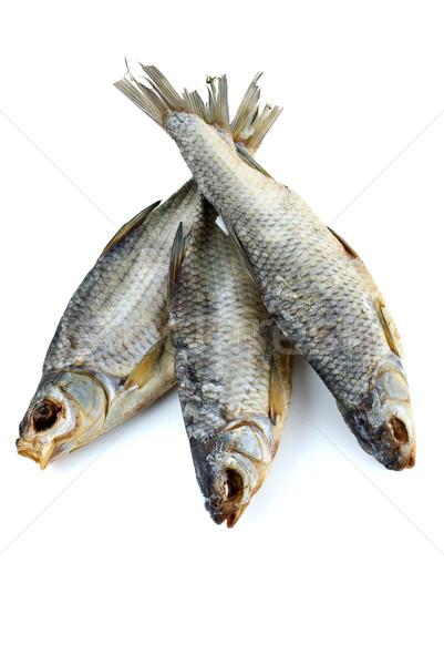 Three dried sea roach fishes Stock photo © digitalr