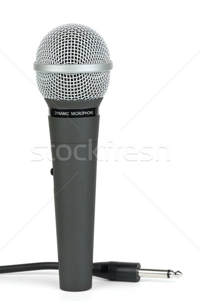 Professional dynamic microphone and cable with jack near Stock photo © digitalr