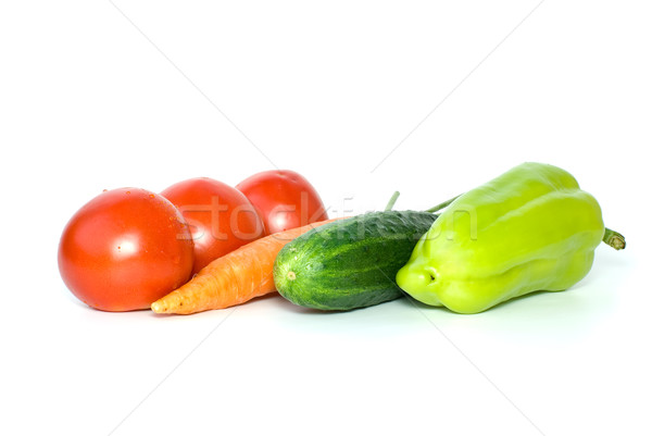 Tomatoes, carrot, cucumber and sweet pepper Stock photo © digitalr