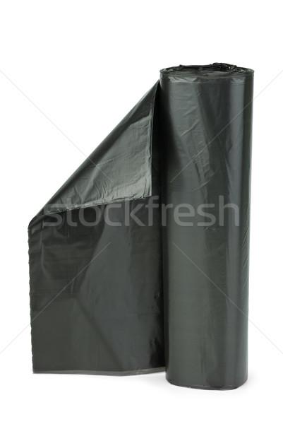 Roll of black plastic garbage bags Stock photo © digitalr