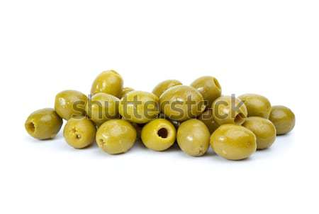 Pile of  green pitted olives Stock photo © digitalr
