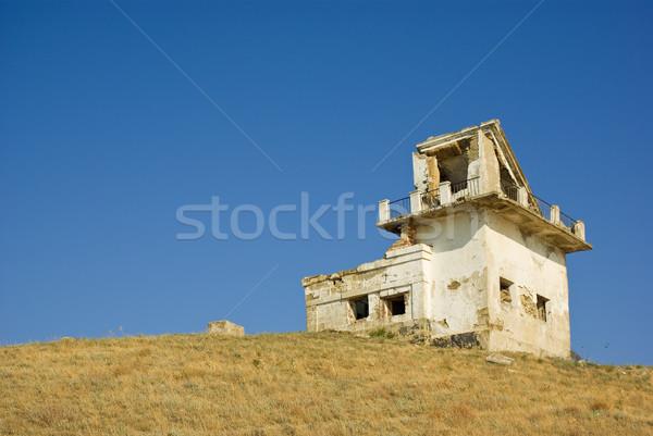 Ruined lighthouse building. Meganom cape, Crimea, Ukraine Stock photo © digitalr