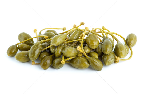 Small pile of marinated capers fruits Stock photo © digitalr