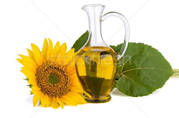 Sunflower and oil in glass decanter Stock photo © digitalr