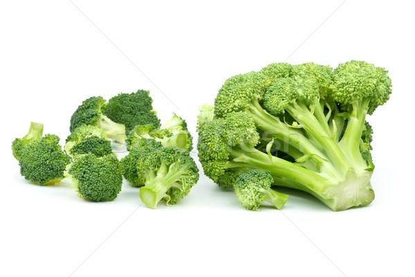 Um grande poucos pequeno brócolis peças Foto stock © digitalr