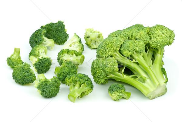 Bir büyük az küçük brokoli parçalar Stok fotoğraf © digitalr
