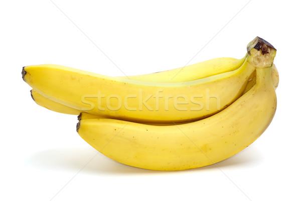 Poucos bananas isolado branco amarelo fresco Foto stock © digitalr