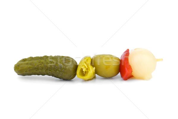 Zöldségek nyárs izolált fehér zöld piros Stock fotó © digitalr