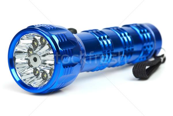 Blue metal LED flashlight Stock photo © digitalr