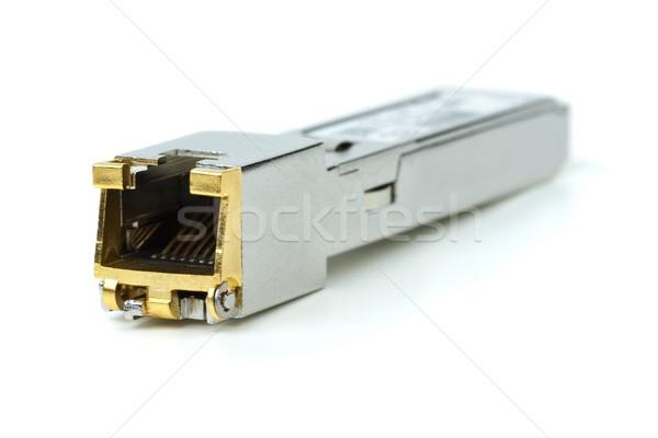 Bakır modül ağ değiştirmek yalıtılmış beyaz Stok fotoğraf © digitalr