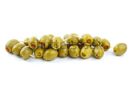 Olives stuffed with red pepper Stock photo © digitalr