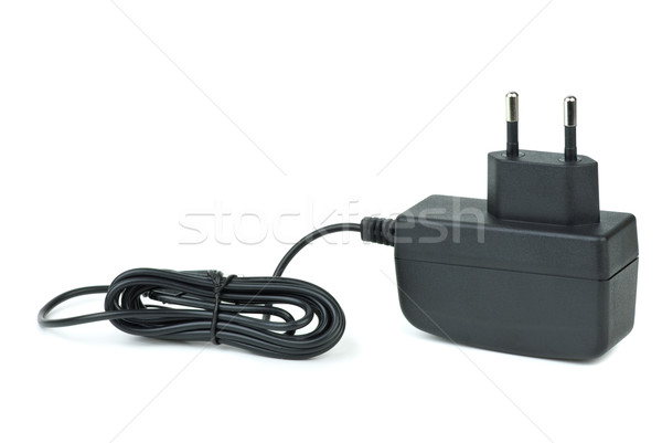 небольшой черный источник питания изолированный белый власти Сток-фото © digitalr