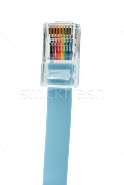 Blue patchkord networking cable with RJ45 connector Stock photo © digitalr