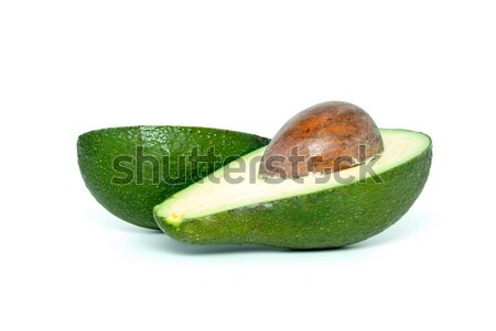 Two avocado (alligator pear) halves with kernel Stock photo © digitalr
