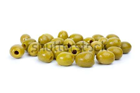 Some green pitted olives Stock photo © digitalr