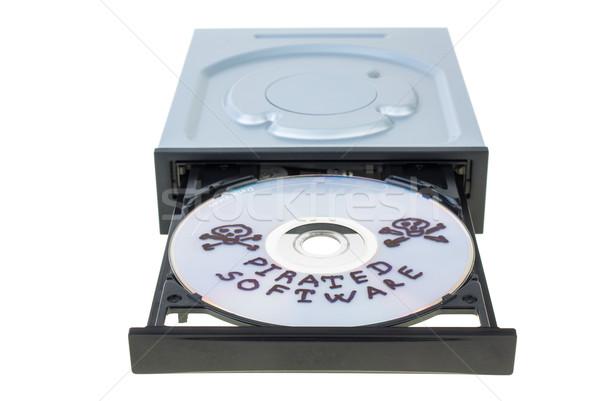 Optyczny dysku dysk oprogramowania odizolowany biały Zdjęcia stock © digitalr