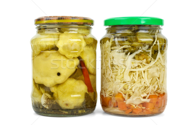 Vetro marinato vegetali isolato bianco Foto d'archivio © digitalr