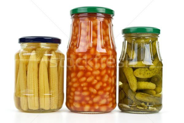 Vetro marinato verdura isolato bianco alimentare Foto d'archivio © digitalr