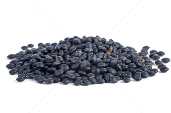 Small pile of black Beluga Lentils Stock photo © digitalr