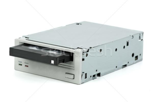 Interno nastro unità unità cassette isolato Foto d'archivio © digitalr