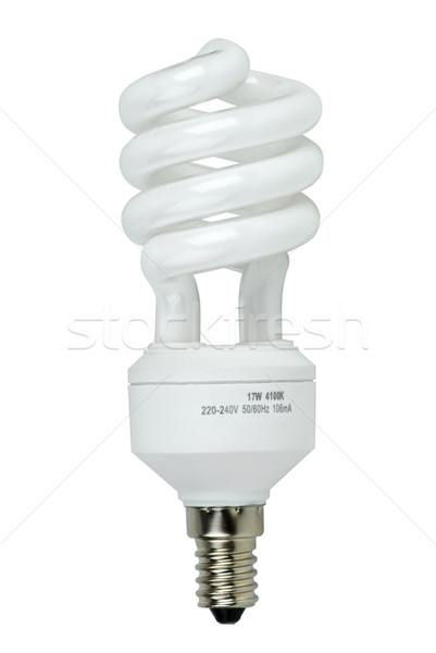 Compact spiral-shaped fluorescent lamp Stock photo © digitalr