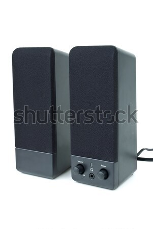 Cheap black computer stereo audio system Stock photo © digitalr