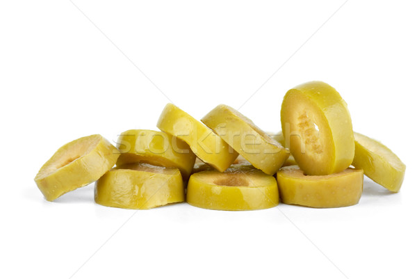 Few sliced green olives Stock photo © digitalr
