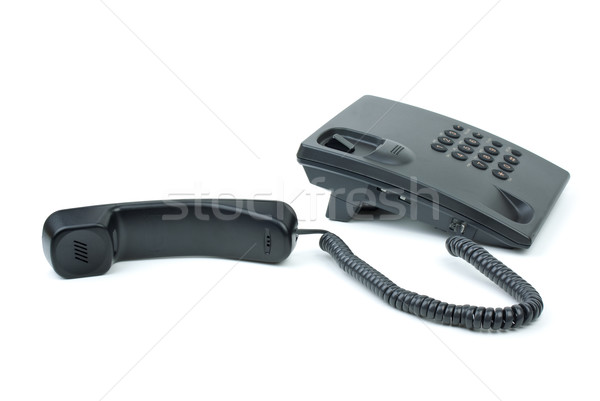 Black office phone with handset near Stock photo © digitalr