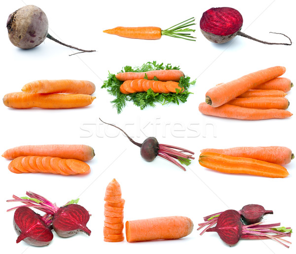 Set of different root vegetables Stock photo © digitalr