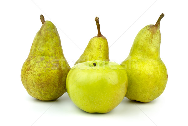 Green apple and three green pears Stock photo © digitalr