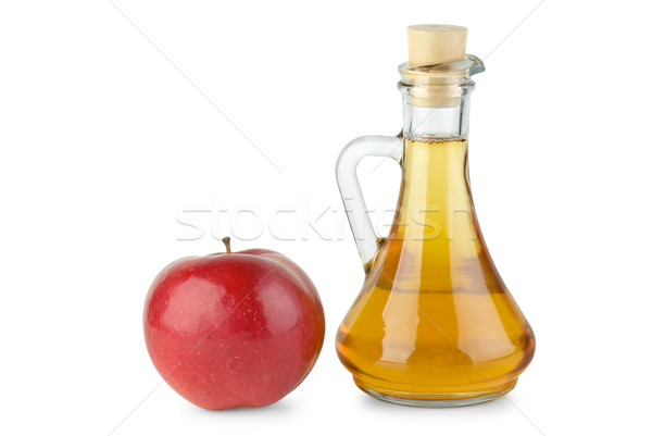 Decanter with apple vinegar and red apple Stock photo © digitalr