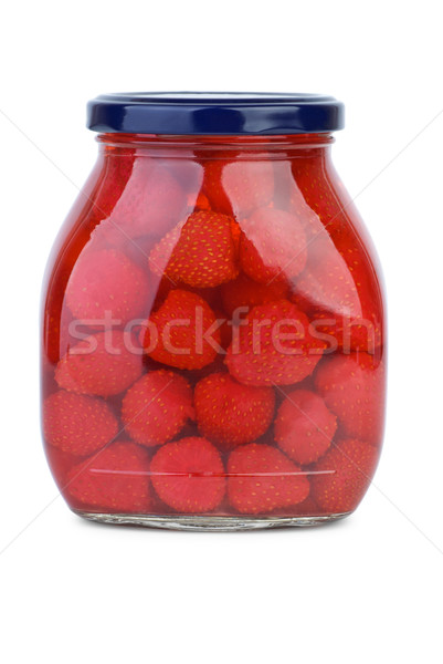 Strawberries conserved in the glass jar Stock photo © digitalr