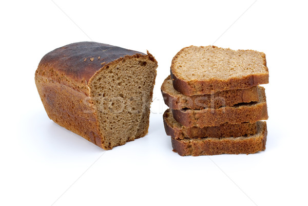 Half of rye bread with anise and some slices Stock photo © digitalr