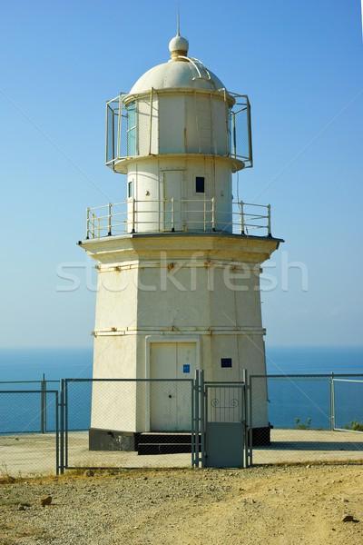 Old lighthouse building. Meganom cape, Crimea, Ukraine Stock photo © digitalr