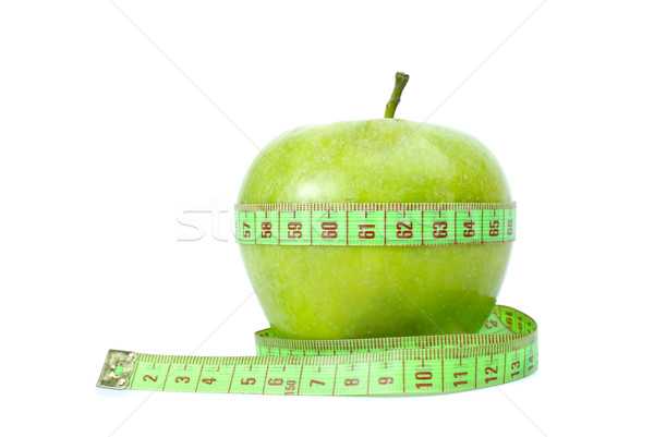 Green apple and measurement tape Stock photo © digitalr