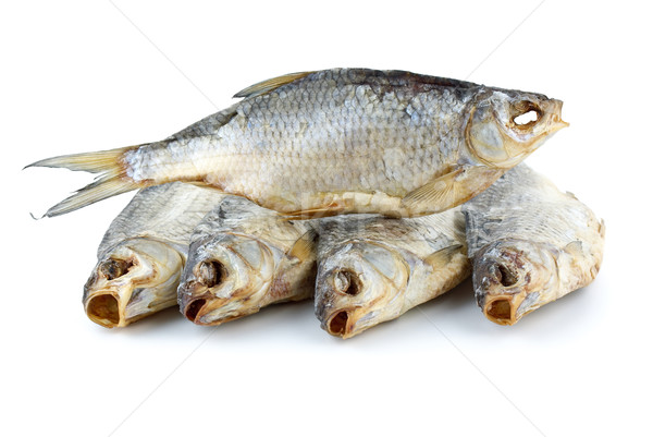 Five dried sea roach fishes Stock photo © digitalr