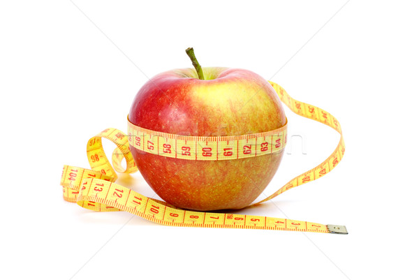 Yellow-red apple and measurement tape Stock photo © digitalr