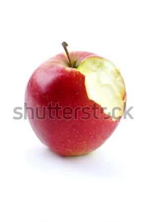 Apples with piece bitten off Stock photo © digitalr