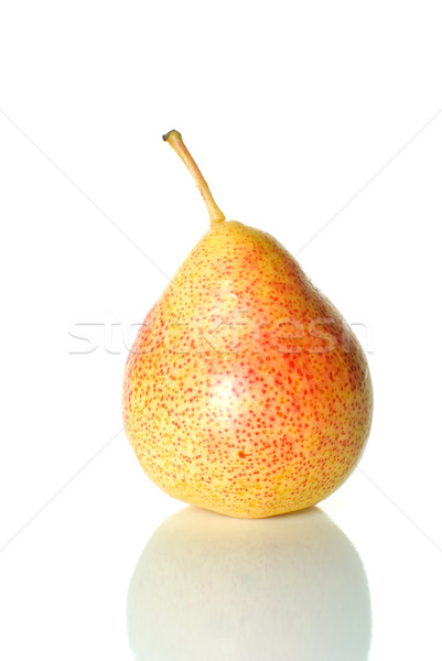 Single spotty yellow-red pear Stock photo © digitalr