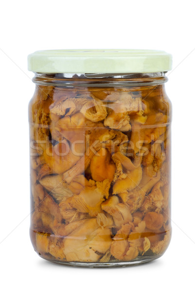 Chanterelle mushrooms marinated in the glass jar Stock photo © digitalr