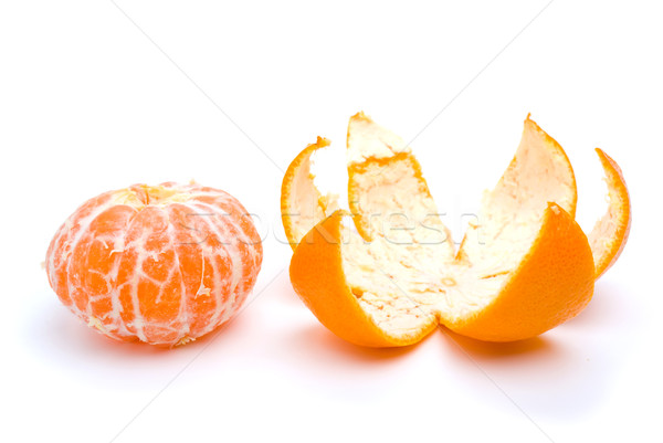 Peeled tangerine and peel Stock photo © digitalr