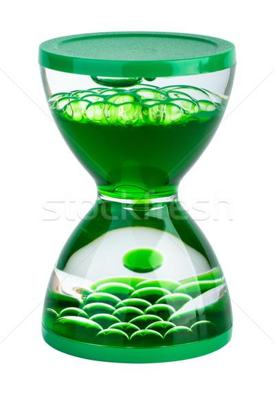 Yeşil jel yalıtılmış beyaz cam zaman Stok fotoğraf © digitalr